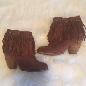 Not Rated Fringe Booties